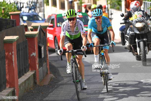 Benjamin King of The United States and Team Dimension Data / Nikita Stalnov of Kazakhstan and Astana Pro Team / during the 73rd Tour of Spain 2018...