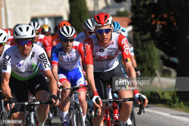 Benjamin King of The United States and Team Dimension Data / Tim Wellens of Belgium and Team Lotto Soudal / Peloton / during the 54th...