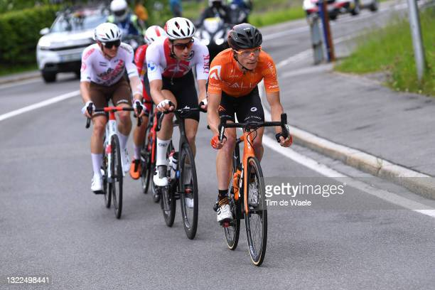 Benjamin King of United States and Team Rally Cycling in the Breakaway during the 84th Tour de Suisse 2021, Stage 3 a 185km stage from Lachen to...