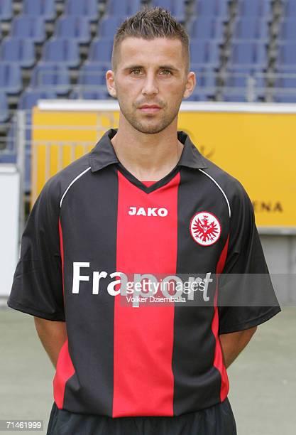 Benjamin Koehler poses during the Bundesliga 1st Team Presentation of Eintracht Frankfurt at the Commerzbank Arena on July 14 2006 in Frankfurt...