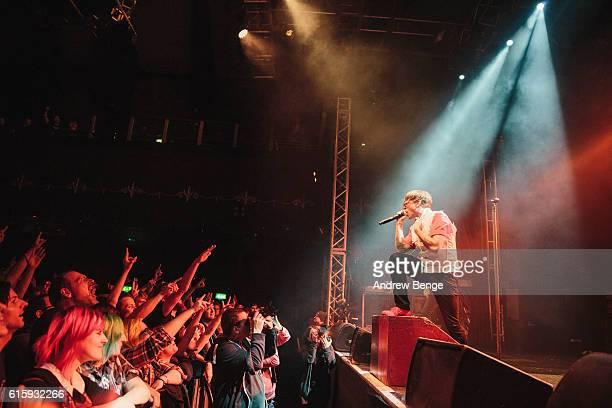 Benjamin Kowalewicz of Billy Talent performs at O2 Academy Leeds on October 20, 2016 in Leeds, England.