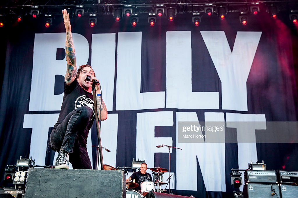 Benjamin Kowalewicz of Billy Talent performs on Day 2 of the Heavy Montreal Festival at Parc Jean-Drapeau on August 8, 2015 in Montreal, Canada.