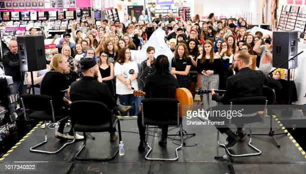 Benjamin Langford-Biss, Patrick Foley, Patty Walters and Alistair Testo of As It Is perform live and sign copies of their new album 'The Great...