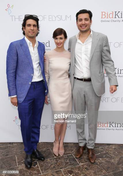 Benjamin Larretche actress Paz Vega and Herve Larren attend the Art of Elysium's 6th Annual PARADIS presented by BidKind during the 67th Annual...