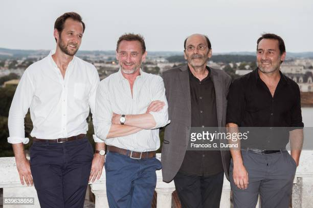 Benjamin Lavernhe JeanPaul Rouve JeanPierre Bacri and Gilles Lellouche attend the 10th Angouleme FrenchSpeaking Film Festival on August 26 2017 in...