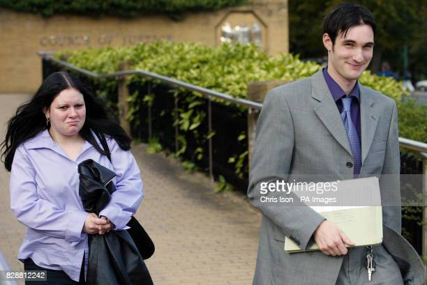 Benjamin Lewis and Natalie Gibson arriving at Southampton Crown Court where he is on trial on charges relating to religious harassment of a vicar Two...