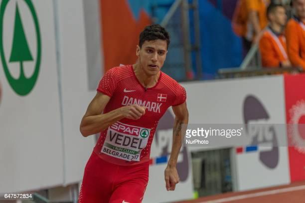 Benjamin Lobo VedelDenmark during 400m for men at European athletics indoor championships in Belgrade on March 3 2017