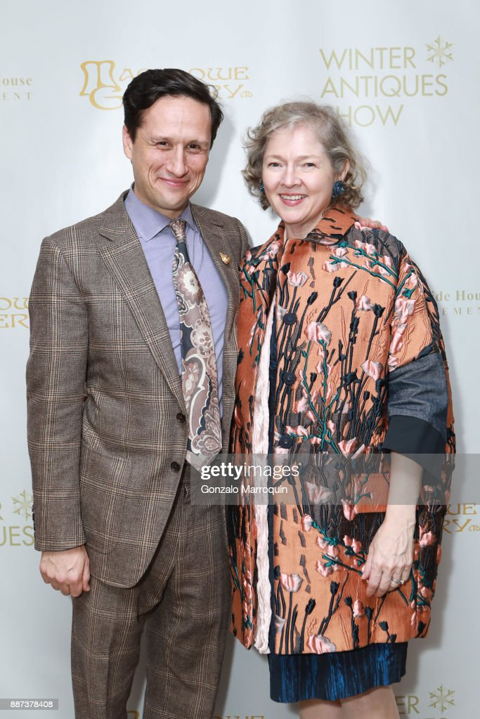 Benjamin Macklowe and Catherine Sweeney Singer during the Macklowe Gallery Hosts 2018 Winter Antiques Show Kickoff Event at 445 Park Avenue on December 6, 2017 in New York City.