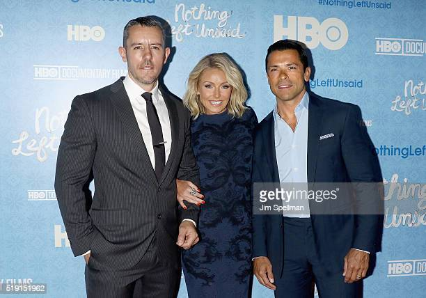 Benjamin Maisani actress/TV personality Kelly Ripa and actor Mark Consuelos attend the Nothing Left Unsaid New York premiere at Time Warner Center on...