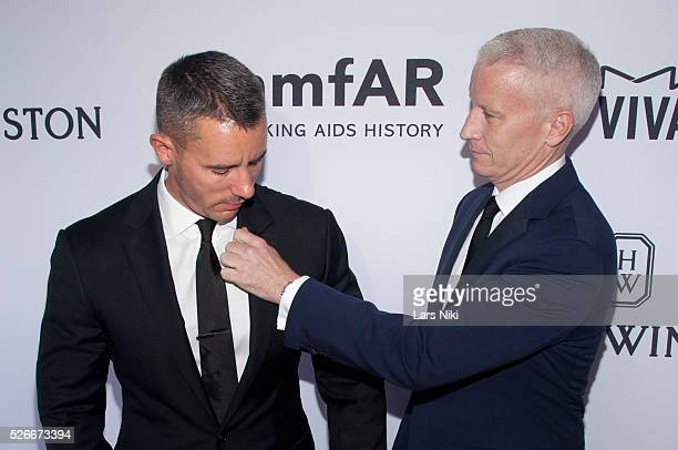 Benjamin Maisani and Anderson Cooper attend the 2015 amfAR Inspiration Gala at Spring Studios in New York City �� LAN