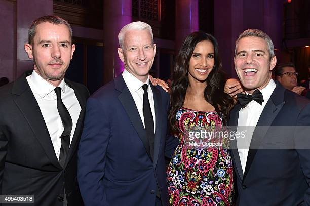 Benjamin Maisani Anderson Cooper Padma Lakshmi and Andy Cohen attend Elton John AIDS Foundation's 14th Annual An Enduring Vision Benefit at Cipriani...