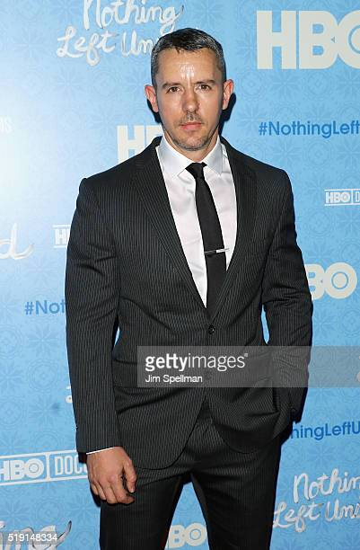 Benjamin Maisani attends the Nothing Left Unsaid New York premiere at Time Warner Center on April 4 2016 in New York City