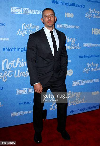 Benjamin Maisani attends the Nothing Left Unsaid premiere at Time Warner Center on April 4 2016 in New York City