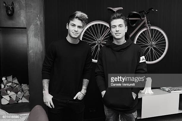 Benjamin Mascolo and Federico Rossi pose at photocall during the MTV EMA's 2016 Best Italian Act on November 6 2016 in Rotterdam Netherlands