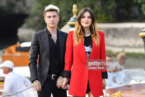Benjamin Mascolo knowns as Benji and Bella Thorne attend the HFPA cocktail reception during the 76th Venice Film Festival at Excelsior Hotel on...