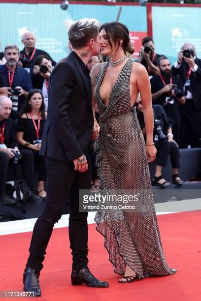 """Benjamin Mascolo knowns as Benji and Bella Thorne walks the red carpet ahead of the """"Joker"""" screening during the 76th Venice Film Festival at Sala..."""