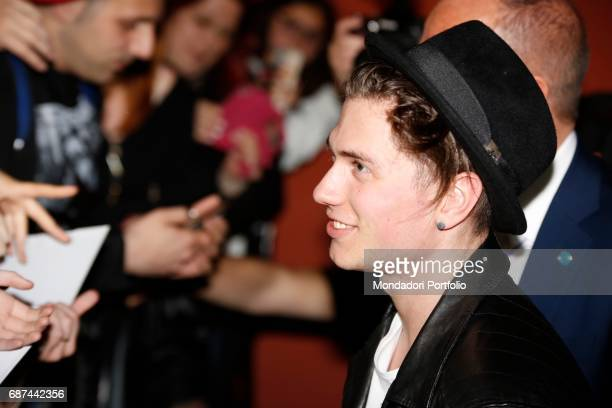 Benjamin Mascolo of pop duo Benji Fede during the charity concert 'Uomini InCanto' to support the ANT association dedicated to the assistance of...