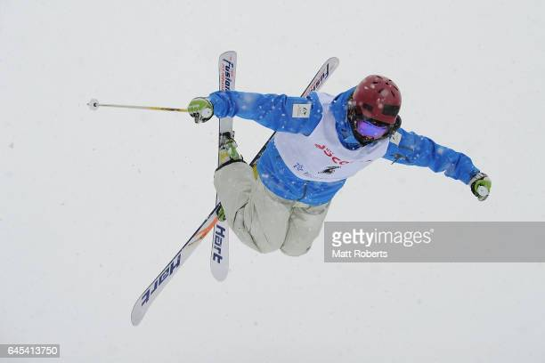 Benjamin Matsumoto of Australia during practice before the men's freestyle moguls on day nine of the 2017 Sapporo Asian Winter Games at Sapporo...