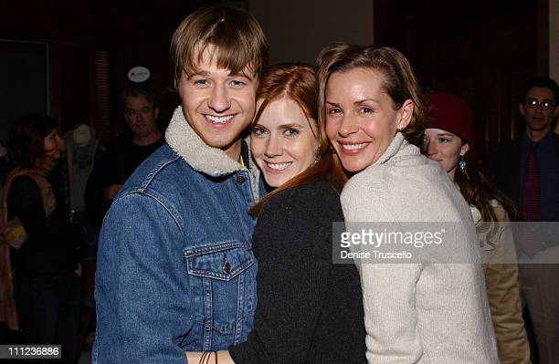 Benjamin McKenzie Amy Adams and Embeth Davidtz during 2005 Park City 'Junebug' Cocktail Party at Levi's Ranch in Park City Utah United States