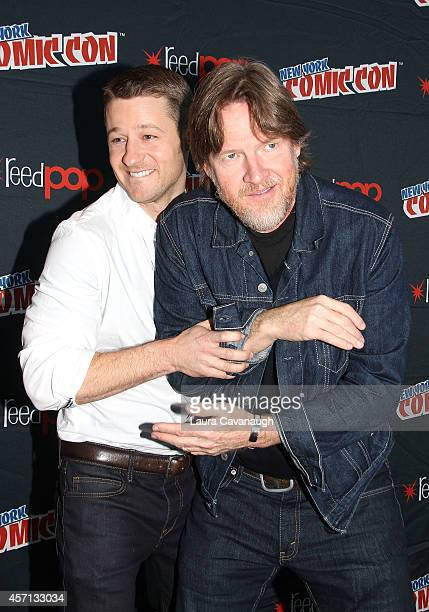 Benjamin McKenzie and Donal Logue in the Press Room for 'Gotham' at 2014 New York Comic Con Day 4 at Jacob Javitz Center on October 12 2014 in New...