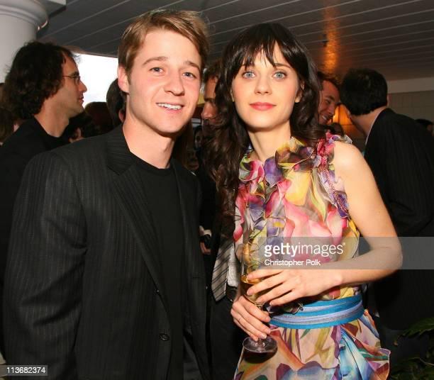 Benjamin McKenzie and Zooey Deschanel during Film Independent's 2006 Independent Spirit Awards - IFC After Party at Shutters in Santa Monica,...