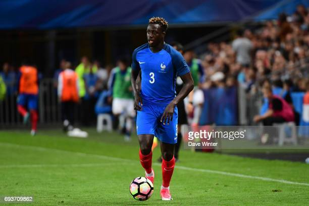 Benjamin Mendy of France during the soccer friendly match between France and Paraguay at Roazhon Park on June 2 2017 in Rennes France