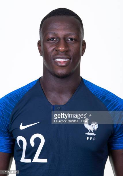 Benjamin Mendy of France poses for a portrait during the official FIFA World Cup 2018 portrait session at the Team Hotel on June 11 2018 in Moscow...