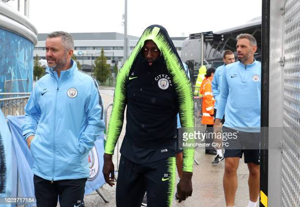 Benjamin Mendy of Manchester City during Manchester City Open Training Session at Manchester City Football Academy on August 26 2018 in Manchester...