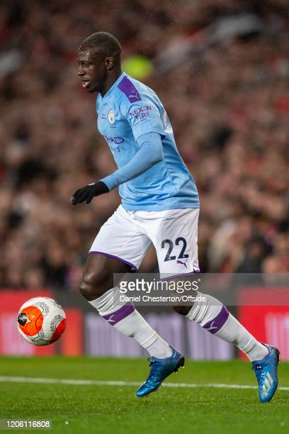 Benjamin Mendy of Manchester City during the Premier League match between Manchester United and Manchester City at Old Trafford on March 8 2020 in...