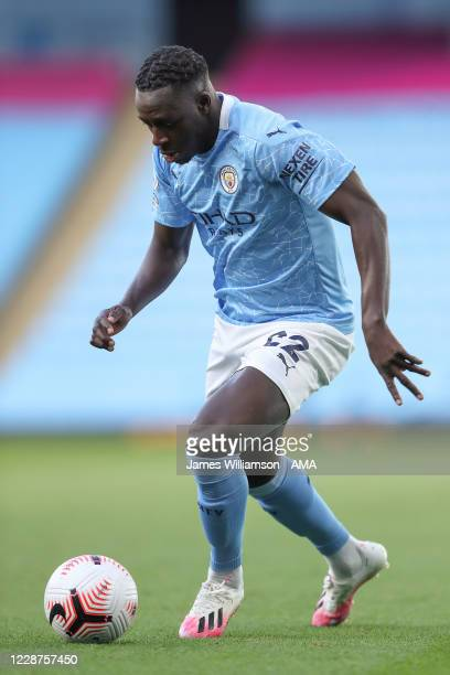Benjamin Mendy of Manchester City during the Premier League match between Manchester City and Leicester City at Etihad Stadium on September 27 2020...
