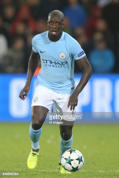 Benjamin Mendy of Manchester City during the UEFA Champions League group F match between Feyenoord Rotterdam and Manchester City at the Kuip on...