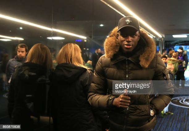 Benjamin Mendy of Manchester City is seen in the tunnel prior to the Premier League match between Manchester City and Tottenham Hotspur at Etihad...