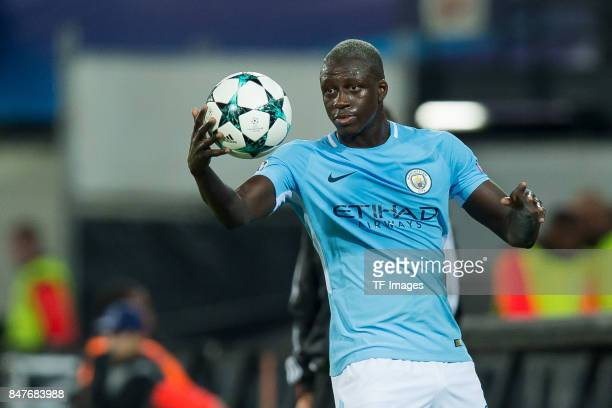 Benjamin Mendy of Manchester City looks on during the UEFA Champions League match between Feyenoord Rotterdam and Manchester City at Stadion...