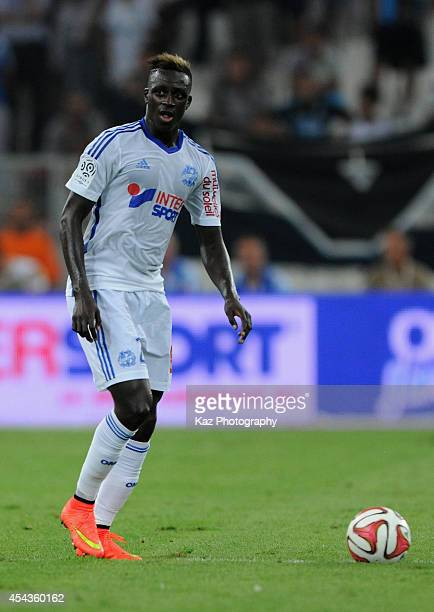 Benjamin Mendy of Marseille in action the French Ligue 1 match between Olympique de Marseille and OGC Nice at Stade Velodrome on August 29 2014 in...