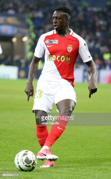 Benjamin Mendy of Monaco during the French League Cup final between Paris SaintGermain and AS Monaco at Parc OL on April 1 2017 in Lyon France