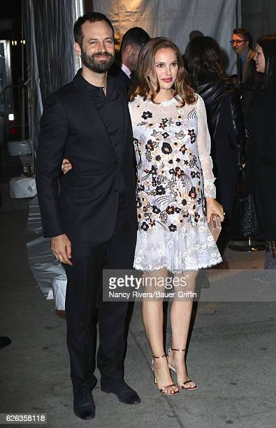 Benjamin Millepied and Natalie Portman are seen on November 28 2016 in New York City