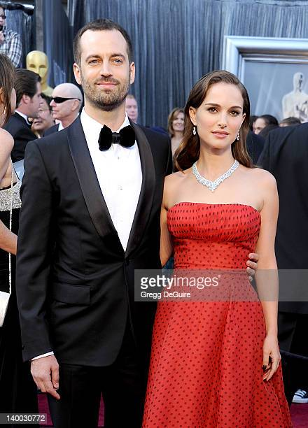 Benjamin Millepied and Natalie Portman arrive at the 84th Annual Academy Awards at Hollywood Highland Center on February 26 2012 in Hollywood...