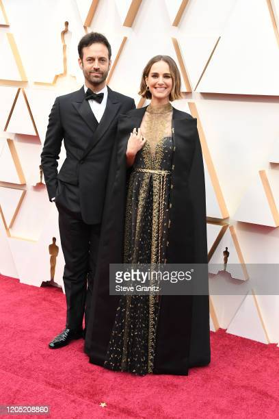 Benjamin Millepied and Natalie Portman arrives at the 92nd Annual Academy Awards at Hollywood and Highland on February 09, 2020 in Hollywood,...