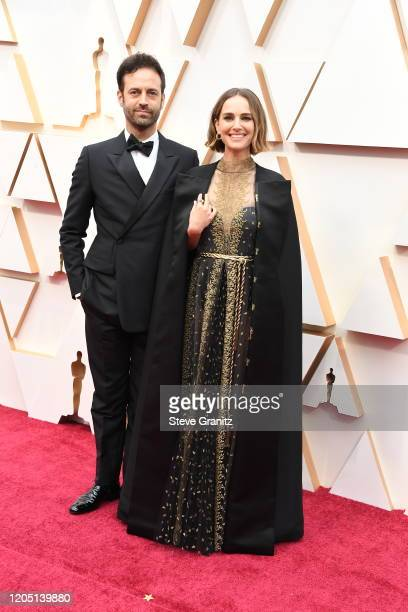 Benjamin Millepied and Natalie Portman attend the 92nd Annual Academy Awards at Hollywood and Highland on February 09, 2020 in Hollywood, California.