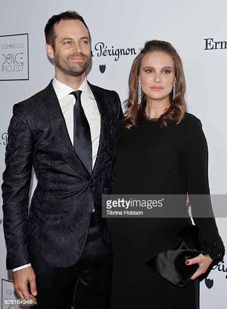 Benjamin Millepied and Natalie Portman attend the LA Dance Project's Annual Gala at The Theatre at Ace Hotel on December 10 2016 in Los Angeles...