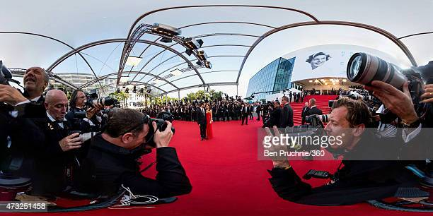 Benjamin Millepied and Natalie Portman attend the opening ceremony and premiere of 'La Tete Haute' during the 68th annual Cannes Film Festival on May...