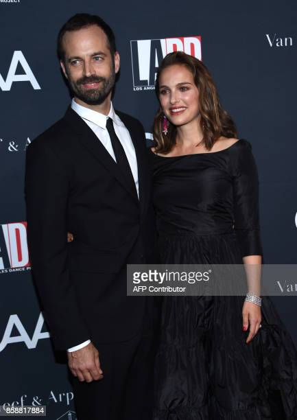 Benjamin Millepied and NataliePortman attend the LADP annual gala and unveiling of new company space at the LADP new home in Los Angeles on October 7...