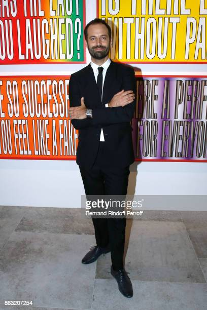 Benjamin Millepied attends the Art Exhibition Reflexion Redux of Benjamin Millepied and Barbara Kruger at Studio des Acacias on October 19 2017 in...