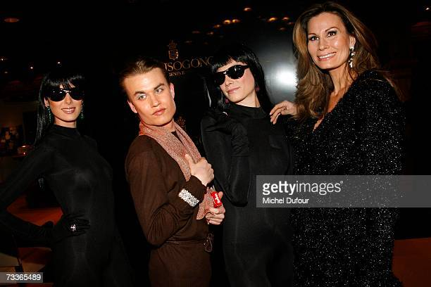 Benjamin Mimran and Elsabeth Kristensen attend the De Grisogono Party hosted by Fawaz Gruosi at the Park Hotel on February 17 2007 in Gstaad...