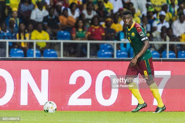 Benjamin Moukandjo of Cameroon during the African Nations Cup match between Cameroon and Gabon at Stade de L'Amitie on January 22, 2017 in...