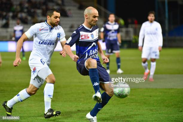 Benjamin NIVET / Jamel AIT BEN IDIR - - Auxerre / Troyes - 24e journee Ligue 2, Photo : Dave Winter / Icon Sport