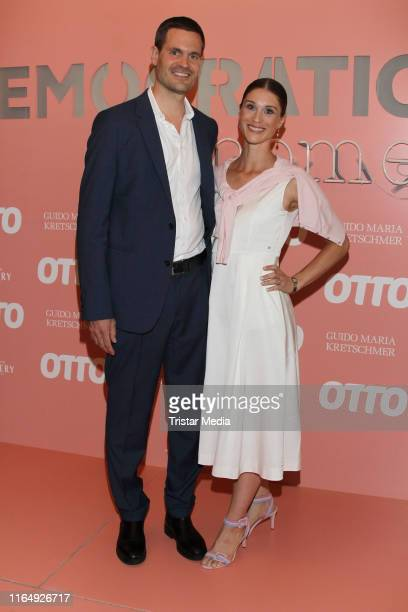 Benjamin Otto and his wife Janina Lin Otto attend the 70 Years OTTO #democratichome Limited Collection By Guido Maria Kretschmar event on August 30...