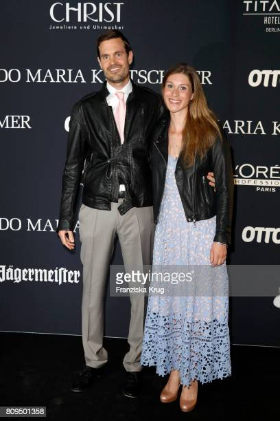 Benjamin Otto and his wife Janina Lin Otto attend the Guido Maria Kretschmer Fashion Show Autumn/Winter 2017 presented by OTTO at Tempodrom on July...