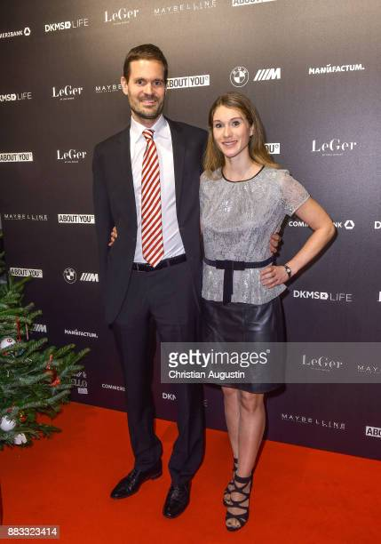 Benjamin Otto and his wife Janine attend the Christmas Dinner Party of Lena Gercke at the Bar Hygge on November 30 2017 in Hamburg Germany
