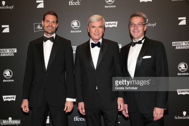 Benjamin Otto Member of Board of Management Otto Group Dr Michael Otto CEO Otto Group and Alexander Birken CEO Otto Group during the 2nd ABOUT YOU...